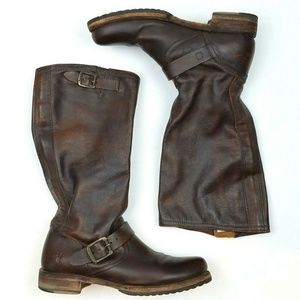 FRYE Veronica Brown Leather Slouch Boot  S18